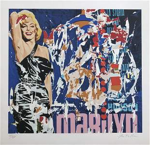 Mimmo Rotella. Marilyn 1979 Serigraph S/N