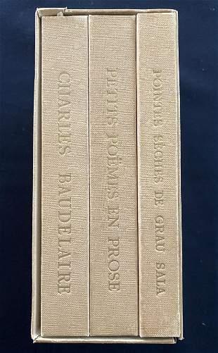 Baudelaire Petits poemes en proses. 2 vols + suite of