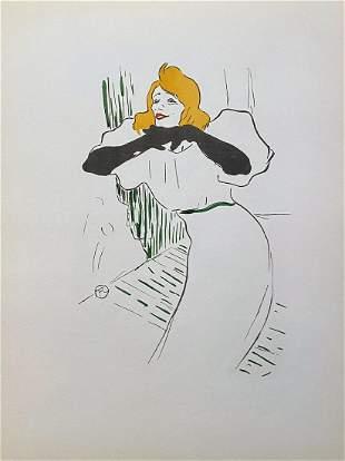 Yvette Guilbert vue par H. de Toulouse-Lautrec. 1950