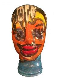 Peter Keil Painted Glass Head