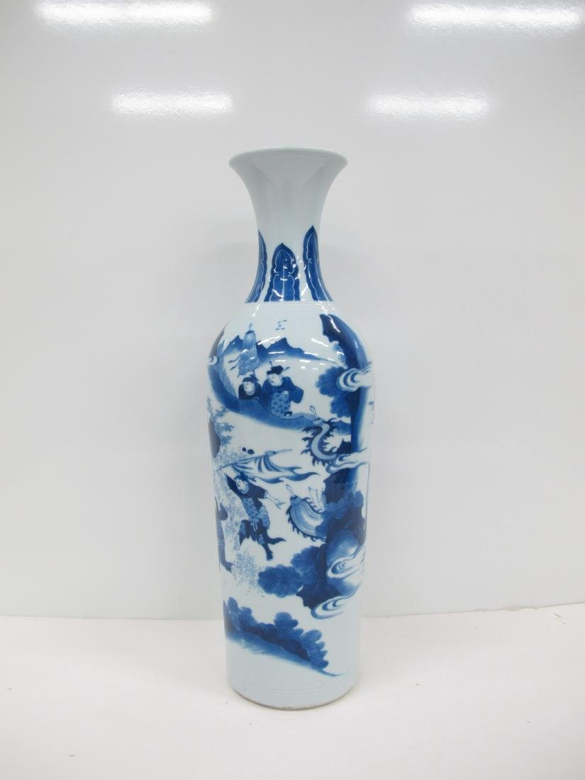 A Chinese Blue and White Cylindrical Vase - 2