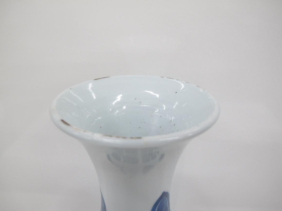 A Chinese Blue and White Cylindrical Vase - 3