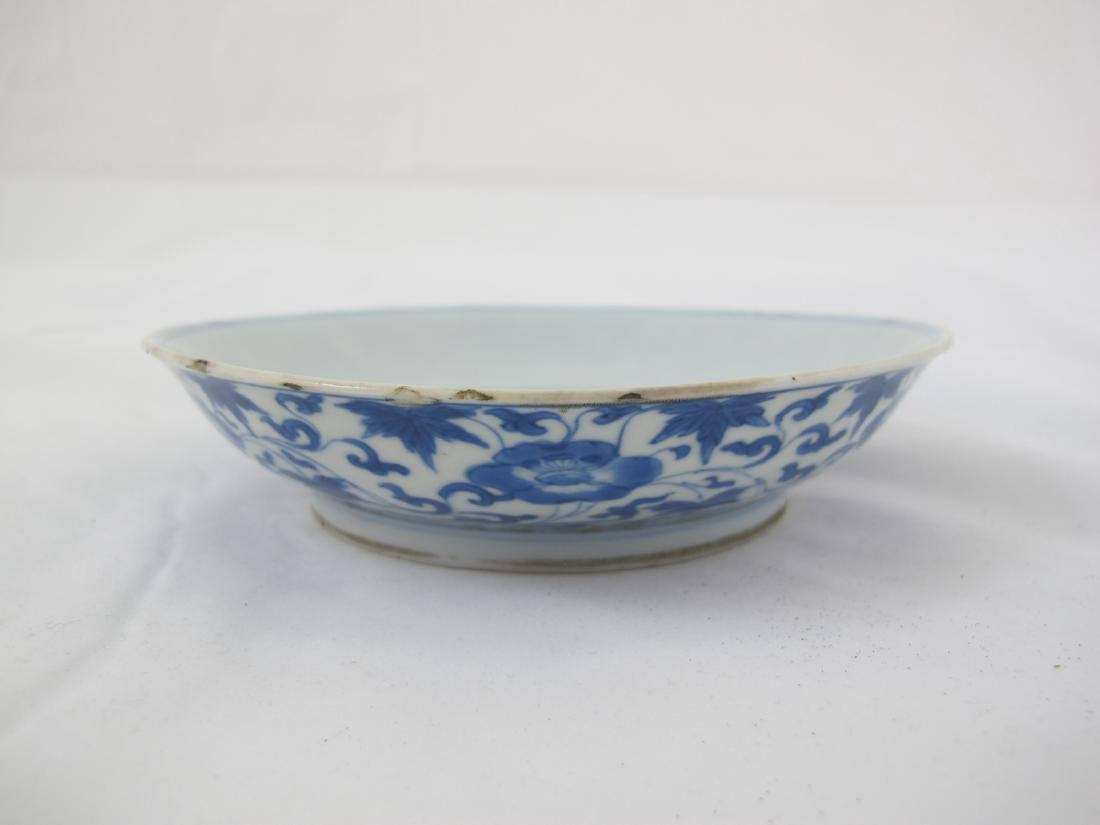 A Blue and White Porcelain Plate