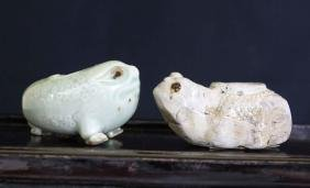 Two Chinese Porcelain Antique Pottery Water-drop