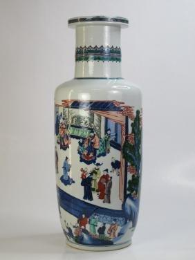 A Chinese Kangxi Wucai Porclain Vase