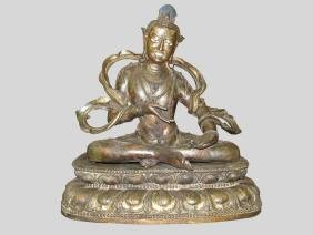 A Copper Buddha Seating Status