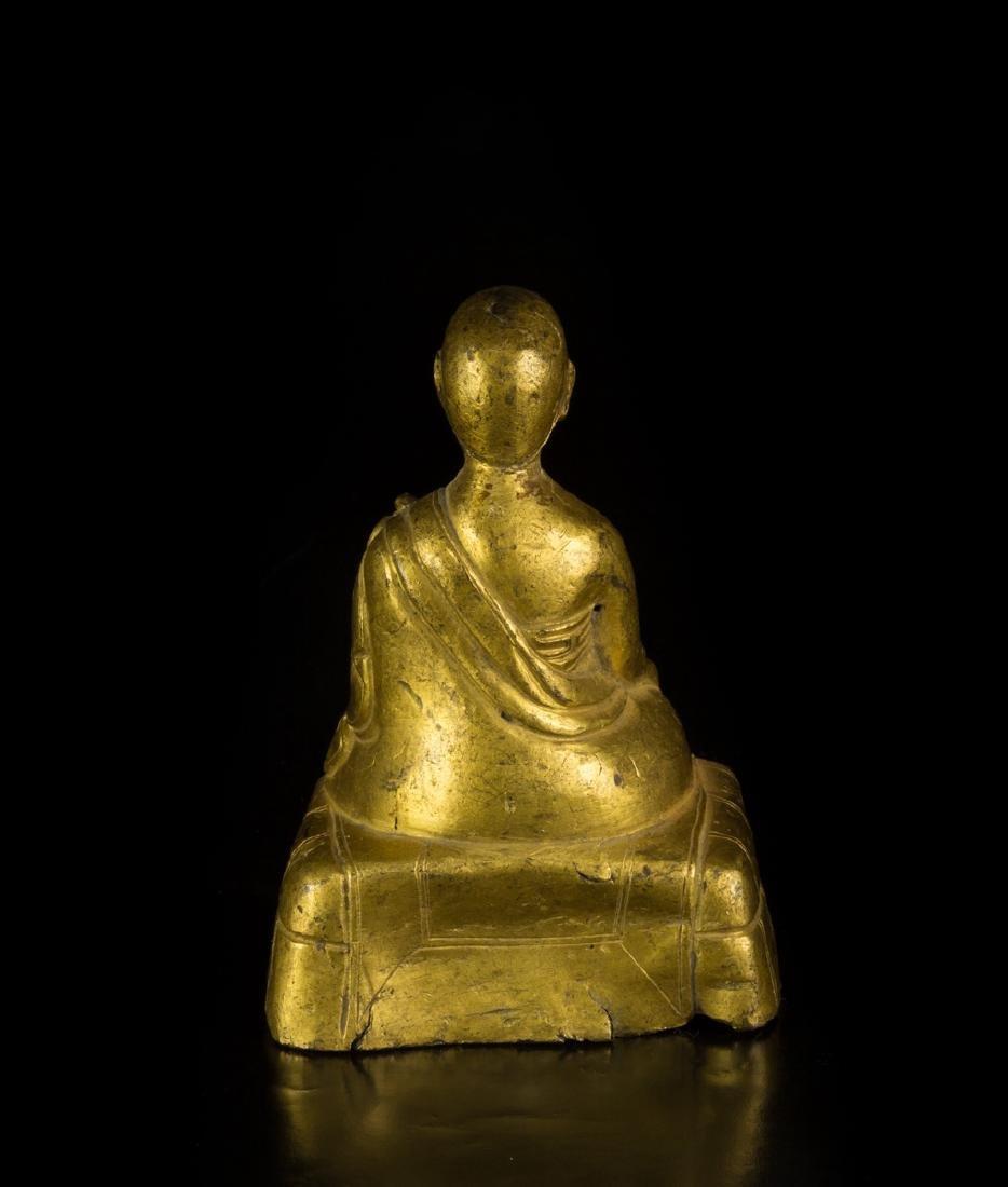 A Gilt-Bronze Figure of Founder - 2