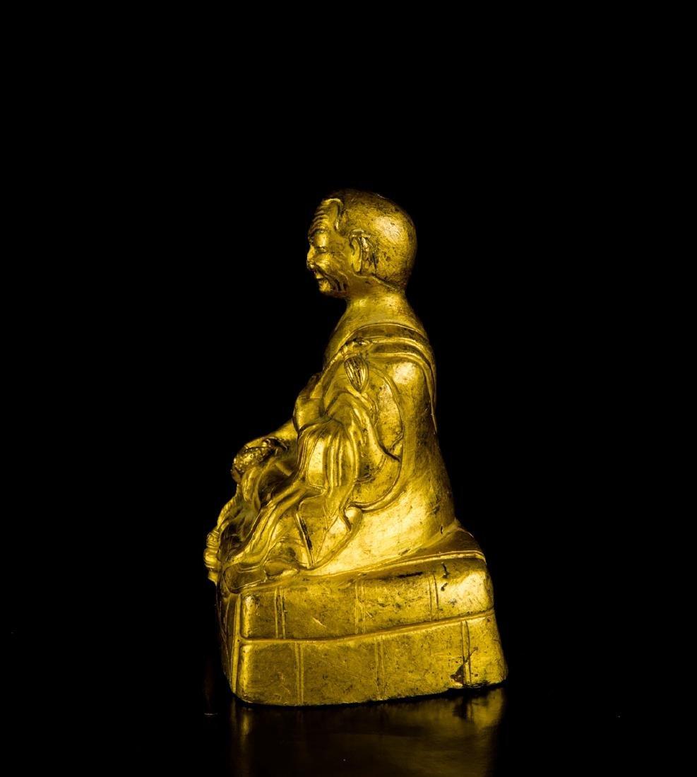 A Gilt-Bronze Figure of Founder - 3