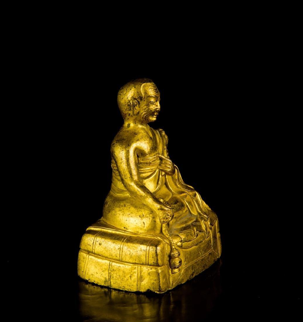 A Gilt-Bronze Figure of Founder - 4