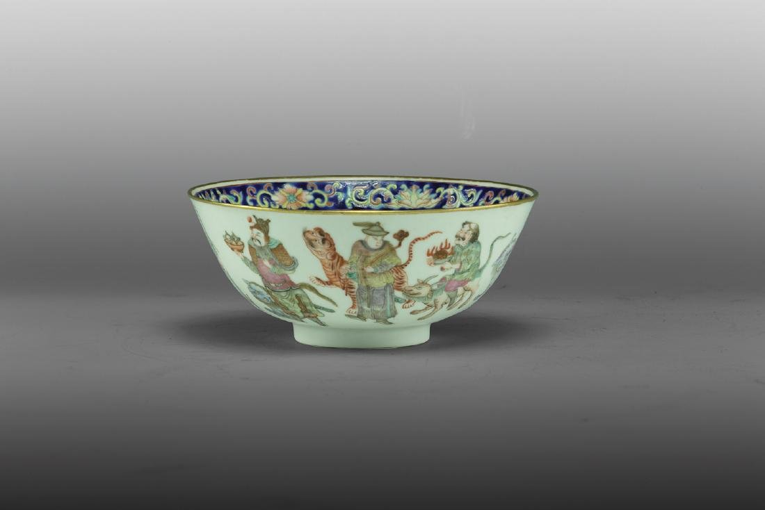 Famille Rose Figures and Goldfish Bowl, Daoguang - 2