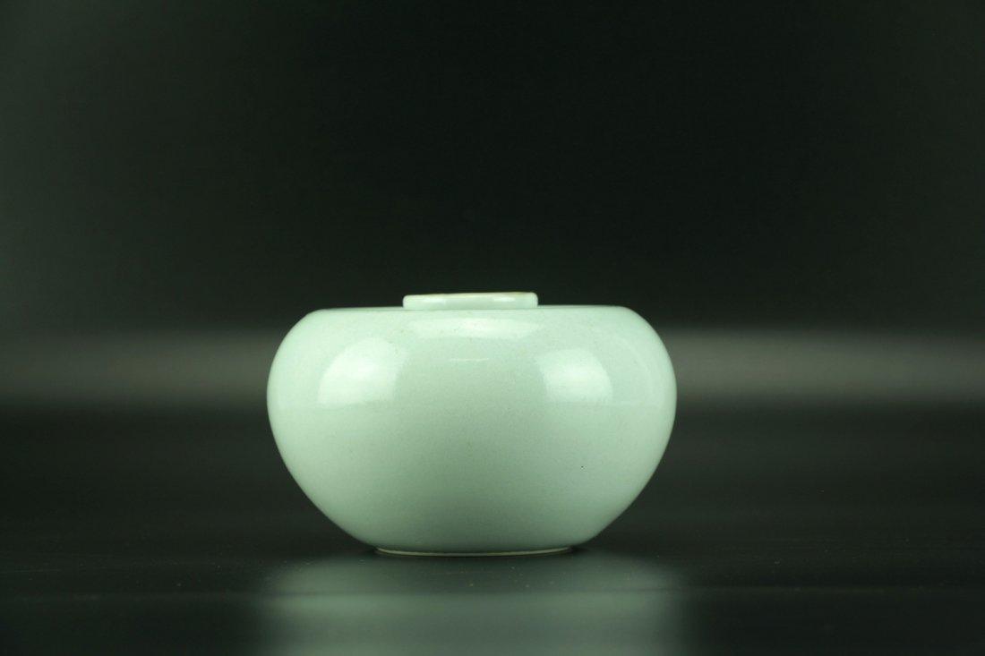 'Apple' Waterpot with Qianlong Six-character Mark - 2