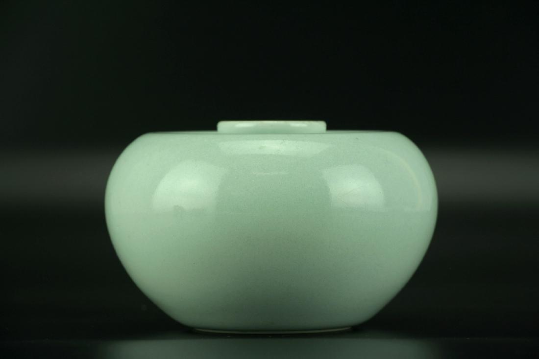 'Apple' Waterpot with Qianlong Six-character Mark - 8