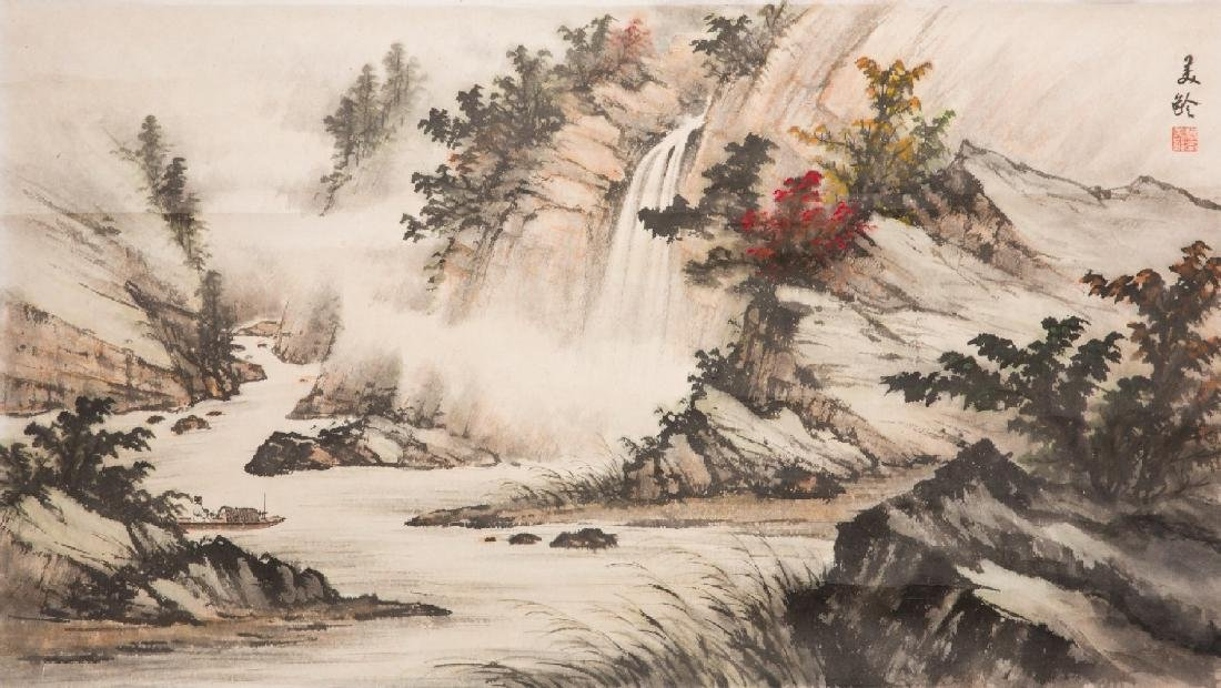 An Ink and Color of Landscape by Song Meiling