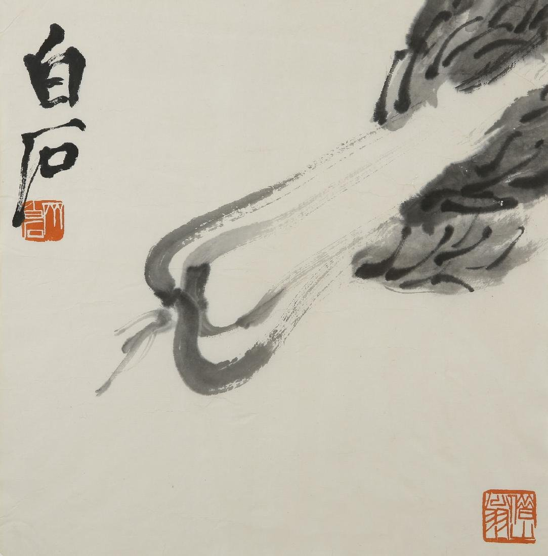 An Ink on Paper of Cabbage by Qi Bai Shi