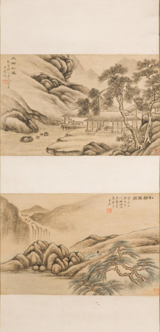 An Ink on Paper of landscape by Wang Yingshou (1788 -