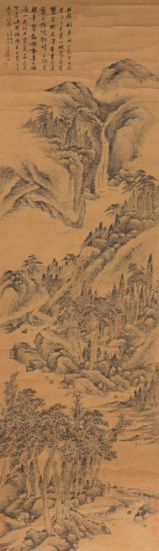 Landscape painting of Water and Mountain by Wang Chen