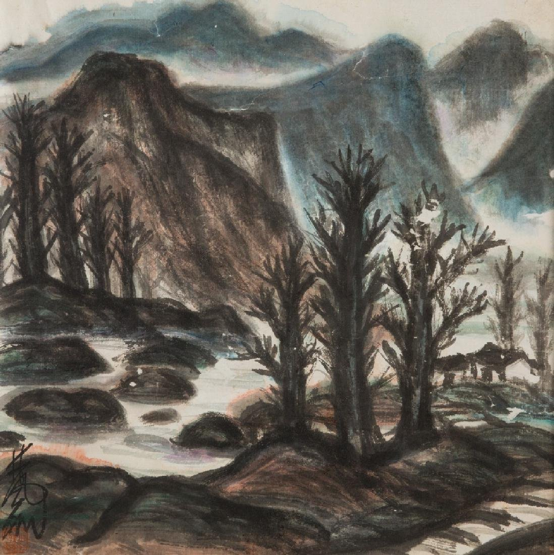Landscape of Water and Mountain by Lin Fengmian