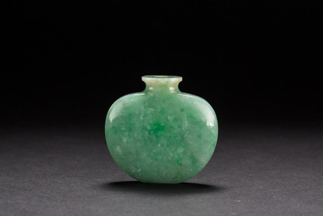 A Jadeite snuffle bottle from Qing Dynasty