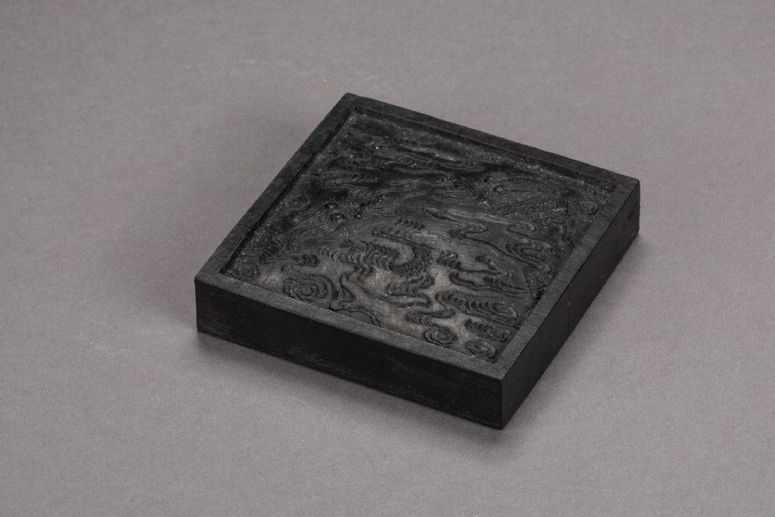 A Chinese dragon inkcake from Qing period