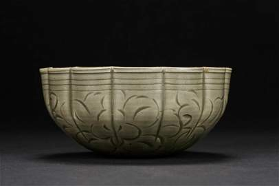 A Chinese Yaozhou molded celadon bowl Northern Song