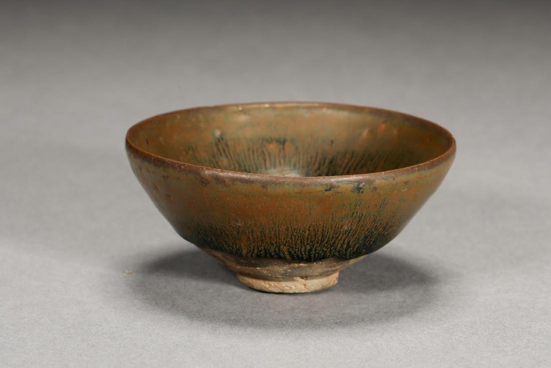 A superb Jian kiln Hare-fur tea bowl from Song Dynasty