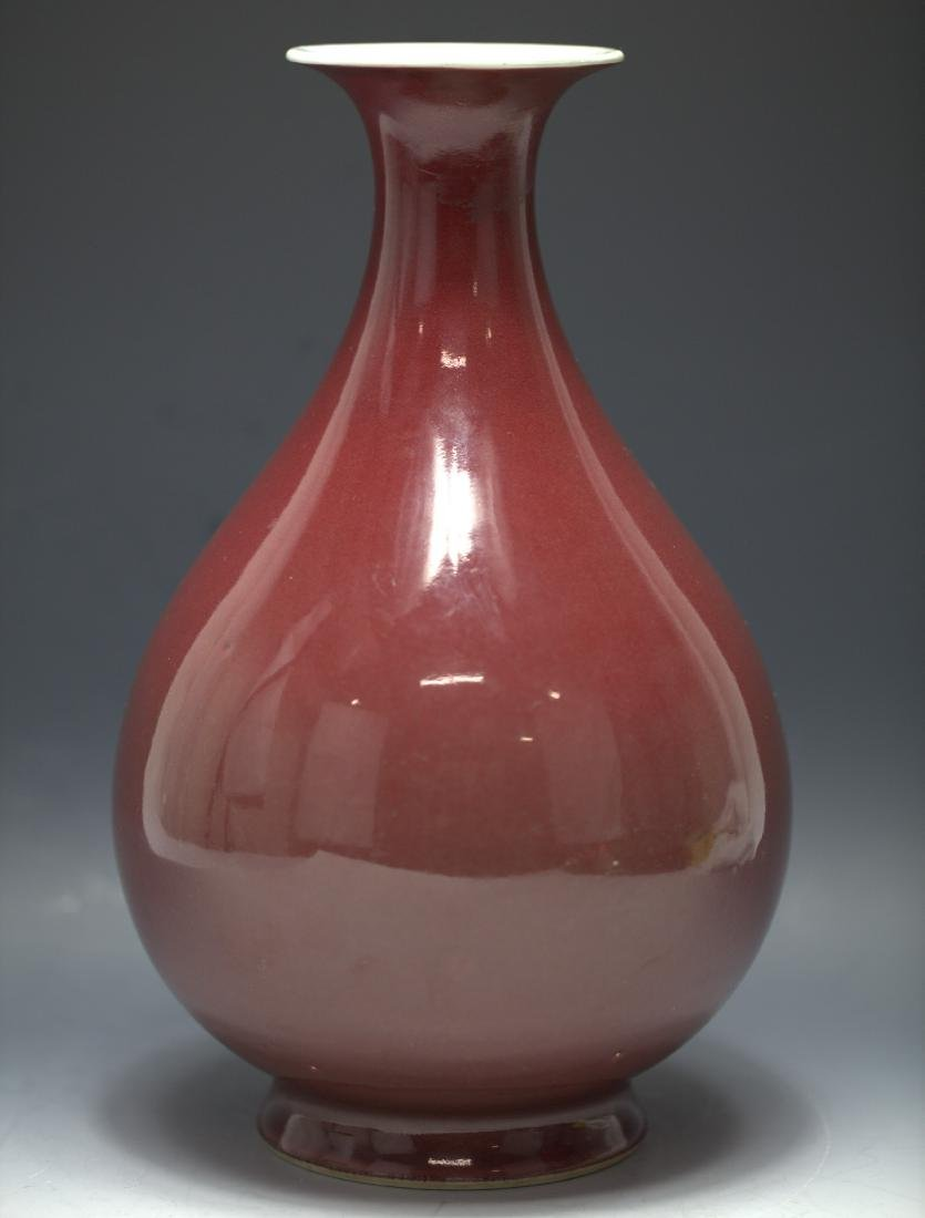 A Chinese jun Copper-Red glazed vase Dao Guang Period