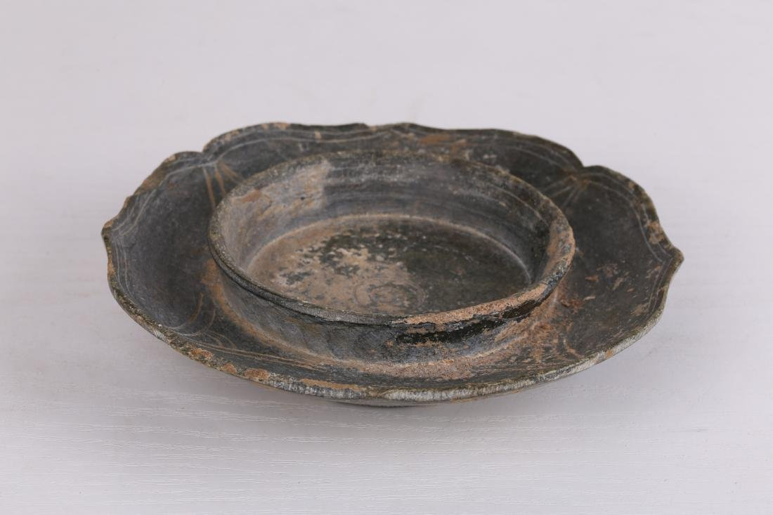 """A """"Leopard†Stone Bowl Stand Tang Dynasty"""