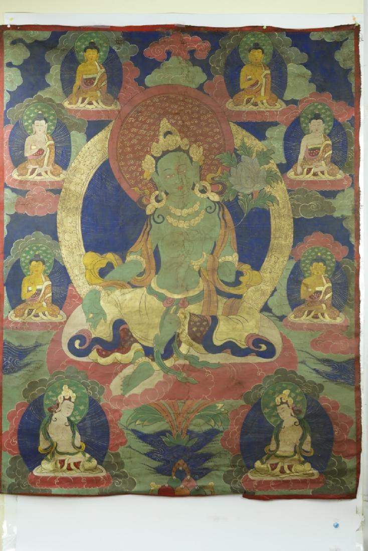 A Thangka of Tara Goddess