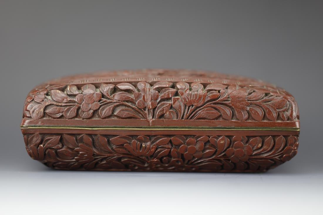 Cinnabar lacquer box with Qianlong mark