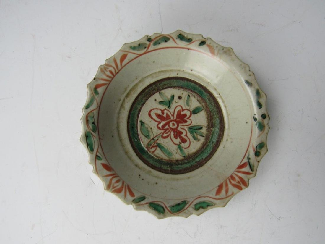 Chinese Antique Wucai Porcelain Plate