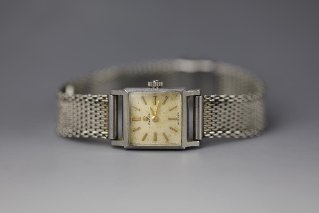 Vintage Omega watch with crystal stainless steel case