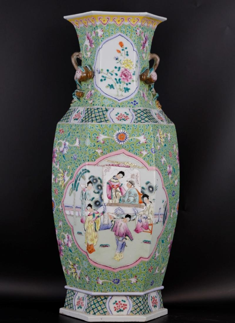 A Chinese Floral Famille Rose Vase from Daoguang Period