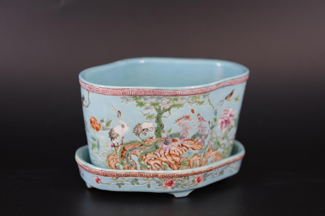 A Famille Rose Floral Daffodil Planter from Republic of