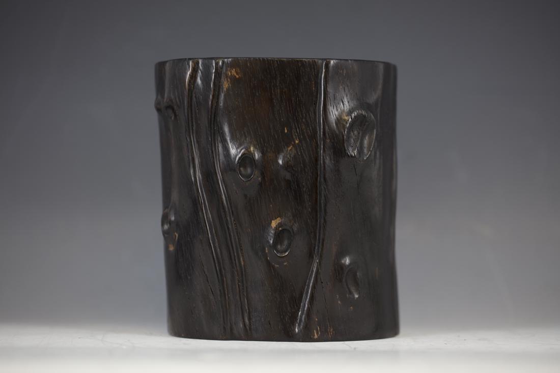 An Ebony Brush Pot