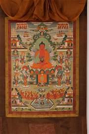 An 18th Century Thangka of Buddha-Field