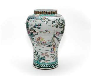 A Famille Verte Figural Vase