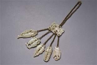 A Hetian White Jade Fish Pendant