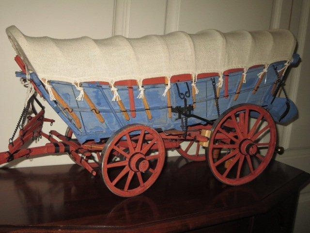 Wooden Conestoga Wagon Model