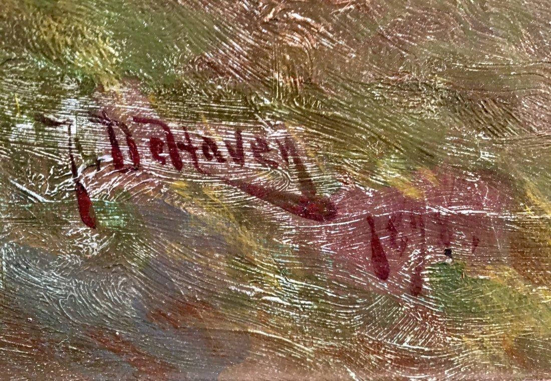 """FRANKLIN DEHAVEN """"TONALIST LANDSCAPE"""" OIL ON CANVAS - 4"""
