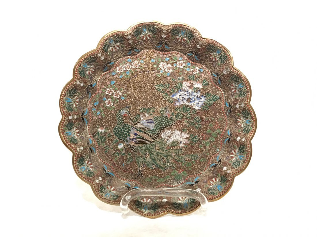 SCALLOPED ENAMELED CHINESE CHARGER