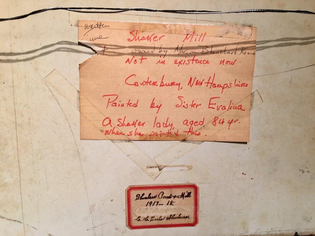 PAIR OF SHAKER COTTAGE SCENES SISTER CORA HELENA SARLE - 10