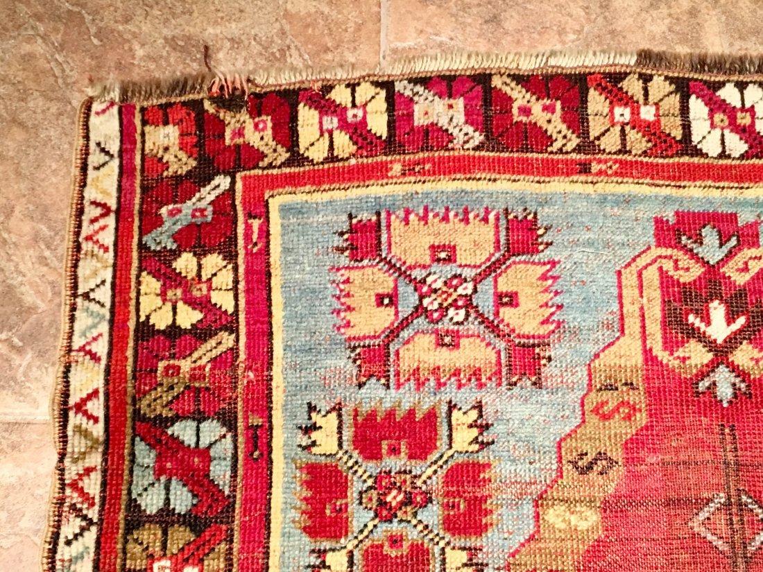 "ANTIQUE TURKISH PRAYER RUG MOSOUL MEASURES 4'8"" X 3'3"" - 4"