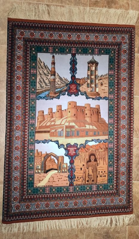 "HISTORICAL DEPICTION PERSIAN TABRIZ 3'11""X5'11"""