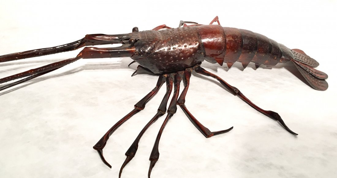 JAPANESE COPPER FULLY ARTICULATED LOBSTER - 10
