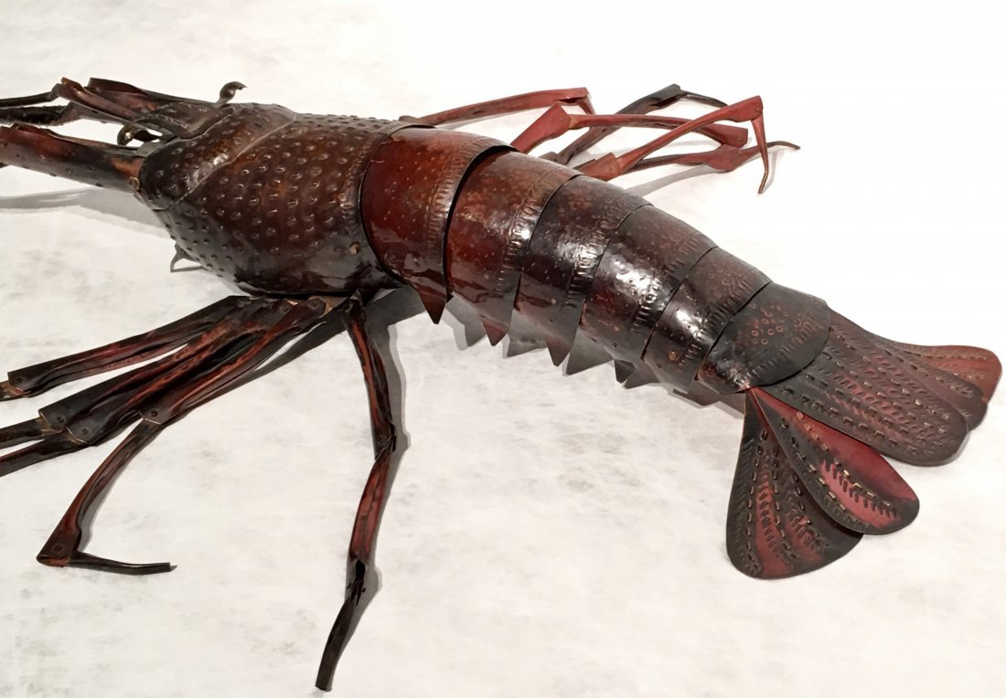 JAPANESE COPPER FULLY ARTICULATED LOBSTER - 4