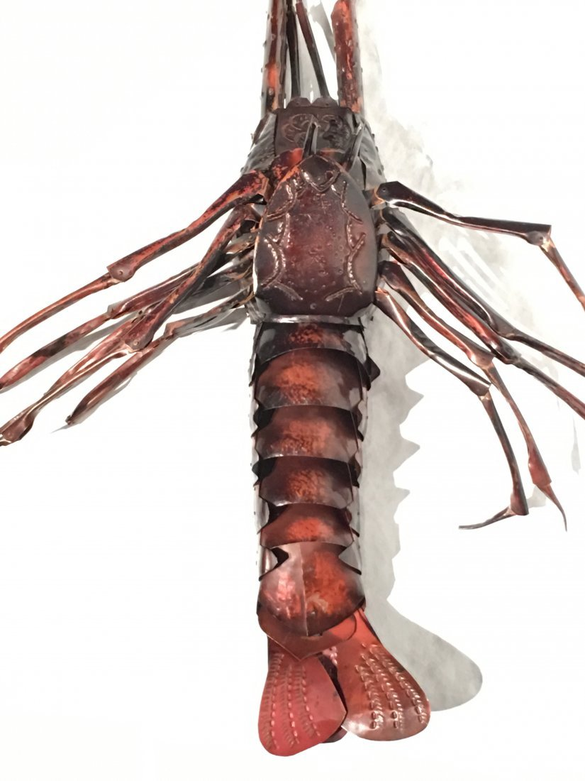 JAPANESE COPPER FULLY ARTICULATED LOBSTER - 7