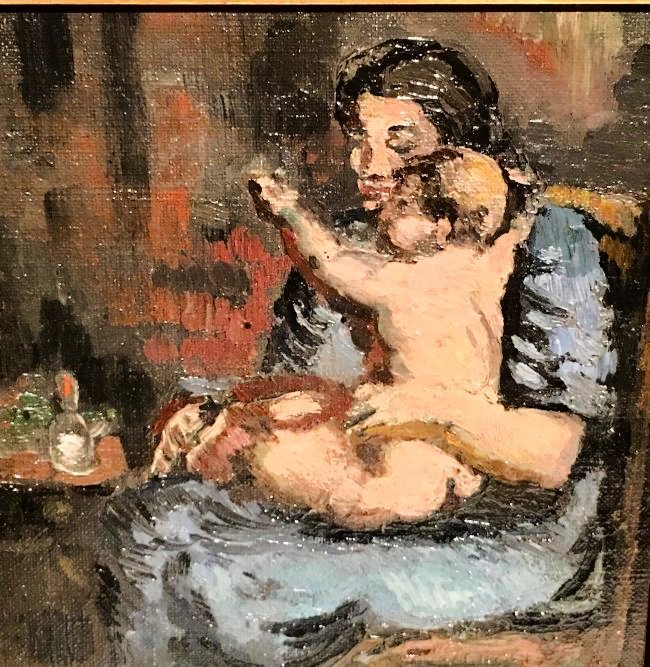 MOTHER AND CHILD SIGNED LEON KELLY (1901-1982) - 3