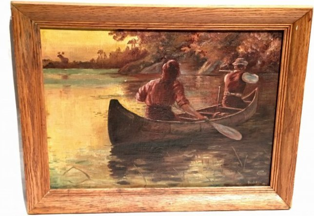 MEN IN A ROWBOAT BY GEORGE BENNETT JULIAN