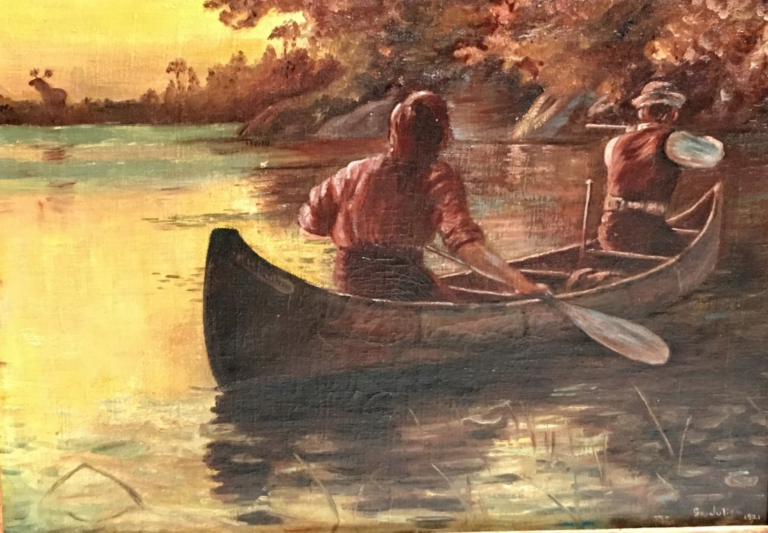 MEN IN A ROWBOAT BY GEORGE BENNETT JULIAN - 2