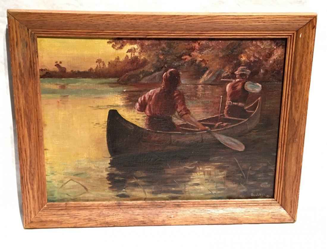 MEN IN A ROWBOAT BY GEORGE BENNETT JULIAN - 5